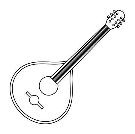 fado guitar musical instrument vector illustration design