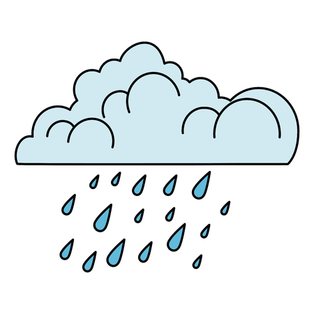 cloud with rain drops vector illustration designのイラスト素材