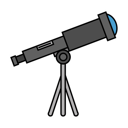Ilustración de telescope device isolated icon vector illustration design - Imagen libre de derechos