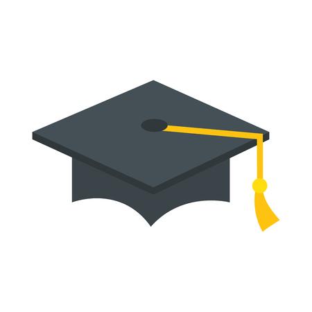Illustration pour hat graduation isolated icon vector illustration design - image libre de droit