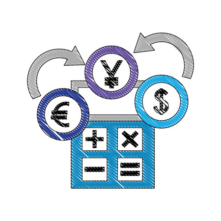 Yen Euro Dollar Foreing Exchange Vector