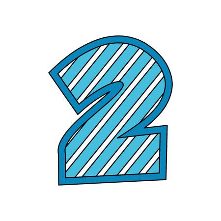 Illustration pour number two comic style vector illustration design - image libre de droit