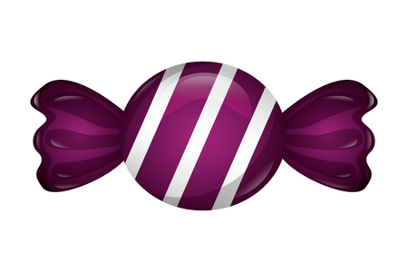 sweet wrapped candy sugar confectionery vector illustration