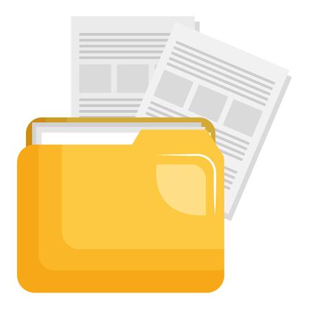 Illustration pour file folder with documents vector illustration design - image libre de droit