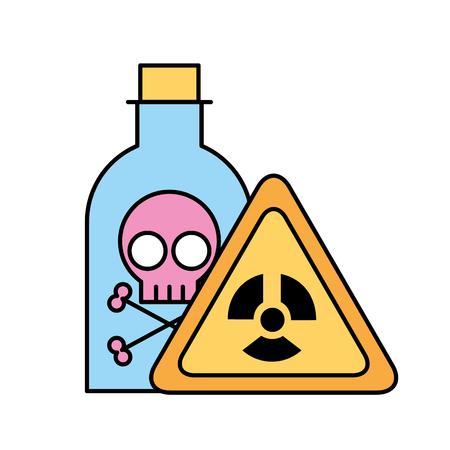 Illustration pour bottle poison laboratory danger board chemistry laboratory vector illustration - image libre de droit