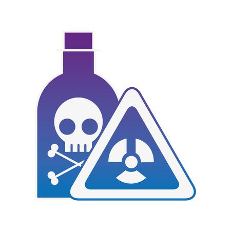 Illustration pour bottle poison laboratory danger board chemistry laboratory vector illustration neon - image libre de droit