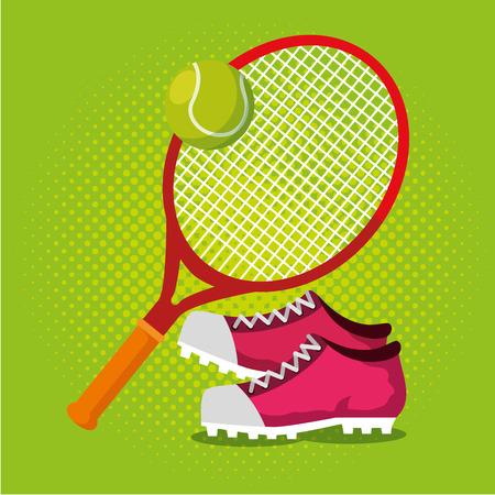 Illustration for tennis sport champions league vector illustration design - Royalty Free Image