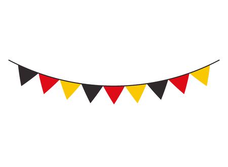 Illustration for garland flag germany decoration celebration vector illustration - Royalty Free Image