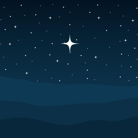 Illustration for desert night manger scene background vector illustration design - Royalty Free Image