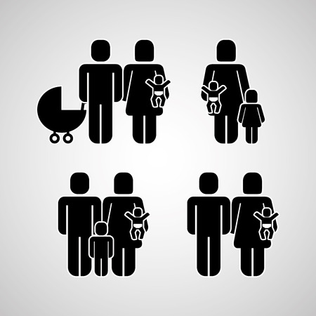 Illustration for people group family community pictogram vector illustration - Royalty Free Image