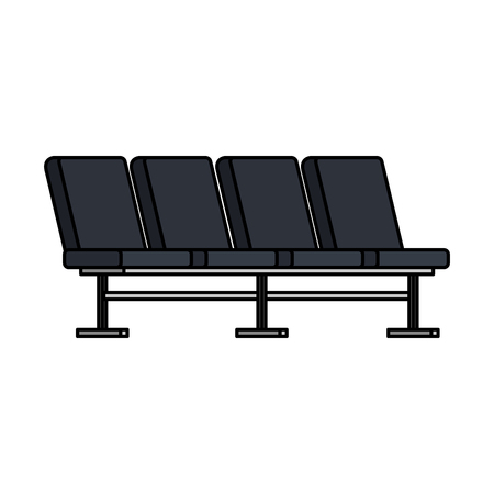 Illustration pour airport chairs place icon vector illustration design - image libre de droit