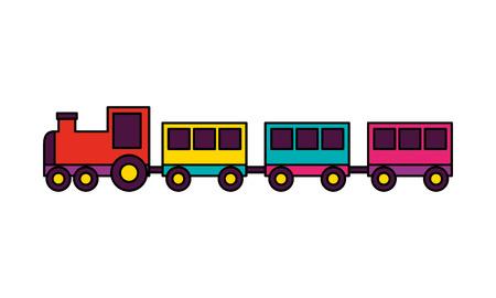 Ilustración de train toy on white background vector illustration - Imagen libre de derechos