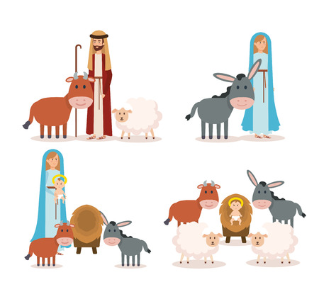 Illustration for group of manger characters vector illustration design - Royalty Free Image