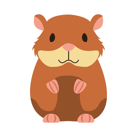 Illustration pour hamster rodent on white background vector illustration - image libre de droit