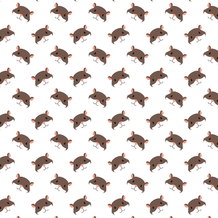 Illustration pour cute hamster heads decoration pattern vector illustration - image libre de droit