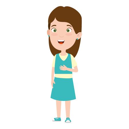 Illustration for beautiful little girl character vector illustration design - Royalty Free Image