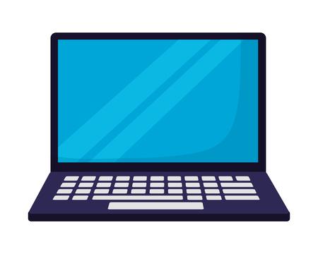 Illustration pour laptop computer on white background vector illustration - image libre de droit