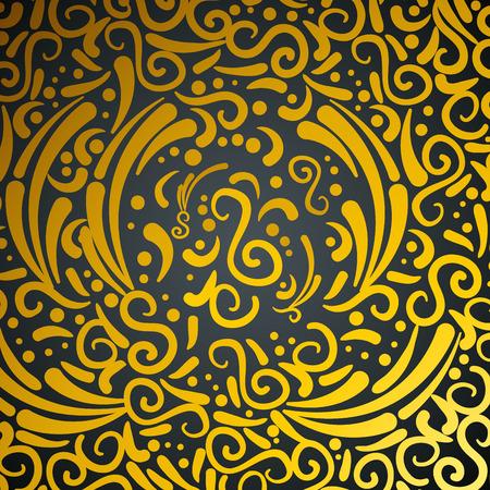 Ilustración de abstract and victorian golden pattern vector illustration design - Imagen libre de derechos