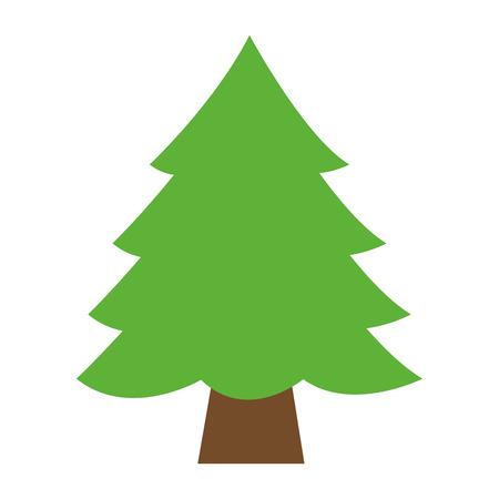 Illustration pour pine tree on white background vector illustration - image libre de droit