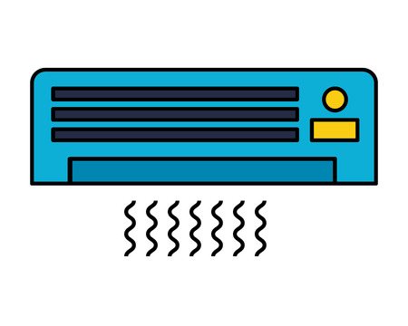 Illustration pour air conditioner on white background vector illustration - image libre de droit