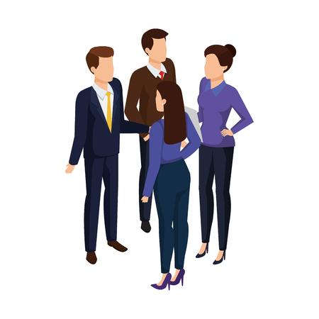 Illustration pour group of business people avatars characters vector illustration design - image libre de droit
