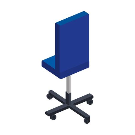 Illustration pour office chair isolated icon vector illustration design - image libre de droit