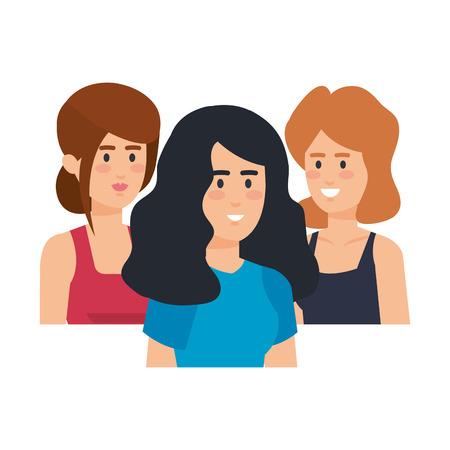 Illustration pour group of businesswomen avatars characters vector illustration design - image libre de droit