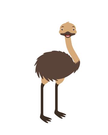 Illustration pour emu fauna on white background vector illustration - image libre de droit