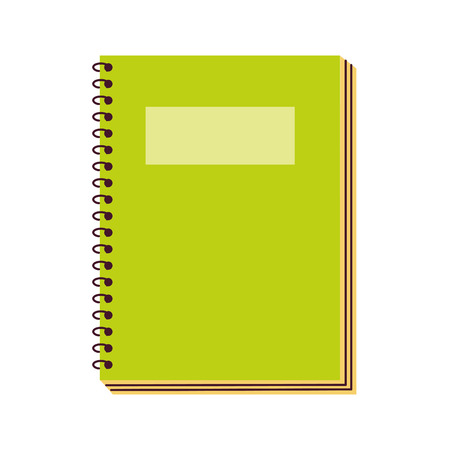 Illustration pour notebook supply on white background vector illustration - image libre de droit