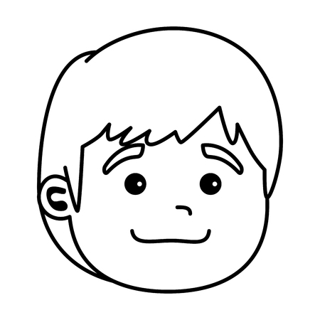 Illustration for cute little baby head character vector illustration design - Royalty Free Image