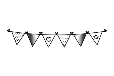 garlands party hanging icon vector illustration design