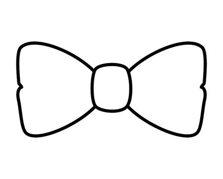 Illustration for elegant bowtie accessory icon vector illustration design - Royalty Free Image