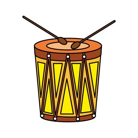 Illustration pour carnival bongo instrument icon vector illustration design - image libre de droit