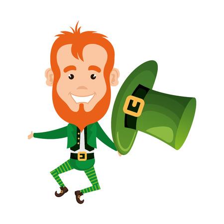 Ilustración de leprechaun saint patrick character vector illustration design - Imagen libre de derechos