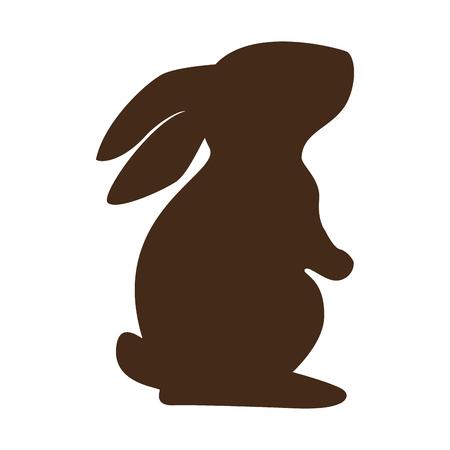 Ilustración de cute rabbit character silhouette vector illustration design - Imagen libre de derechos