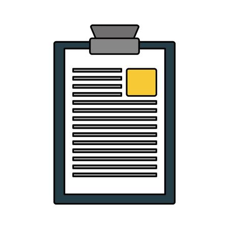 Illustration pour clipboard report document on white background vector illustration - image libre de droit