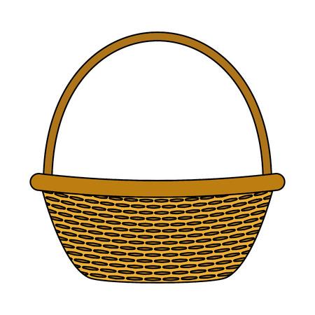 Illustration pour wicker basket picnic on white background vector illustration - image libre de droit