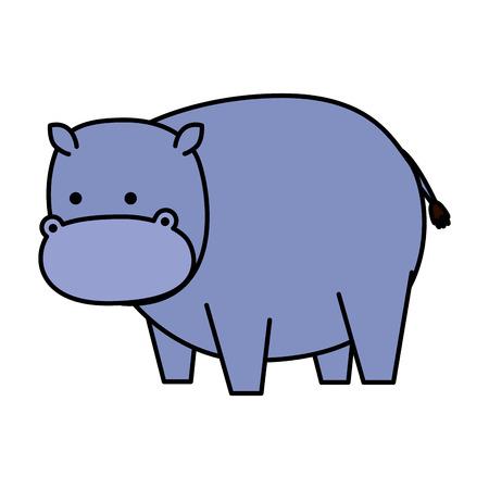 Ilustración de african hippo wild character vector illustration design - Imagen libre de derechos