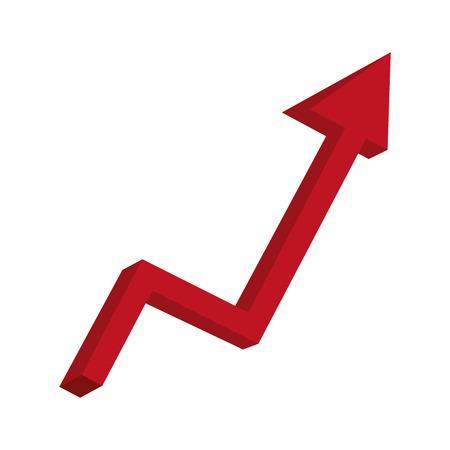 Illustration pour arrow statistics up icon vector illustration design - image libre de droit