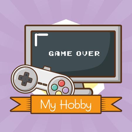 my hobby video game technology vector illustration design