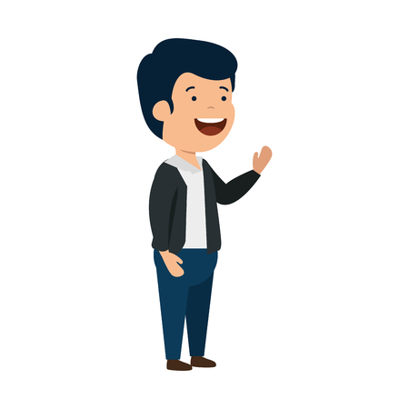 Illustration pour happy young man character vector illustration design - image libre de droit