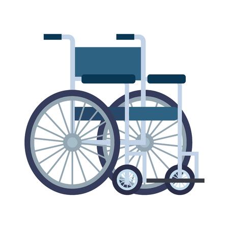 Illustration pour wheel chair isolated icon vector illustration design - image libre de droit