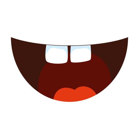 Ilustración de crazy mouth fools day icon vector illustration design - Imagen libre de derechos