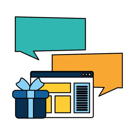 Illustration pour webpage template with ecommerce icons vector illustration design - image libre de droit