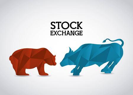 Illustration pour stock exchange design, vector illustration eps10 graphic - image libre de droit
