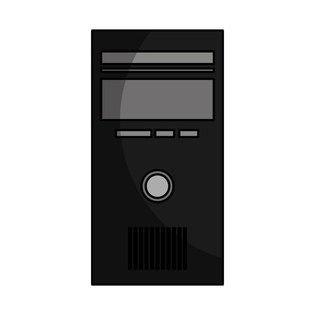 Illustration pour computer desktop cpu isolated icon vector illustration design - image libre de droit