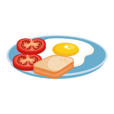 Vektor für delicious breakfast menu icons vector illustration design - Lizenzfreies Bild