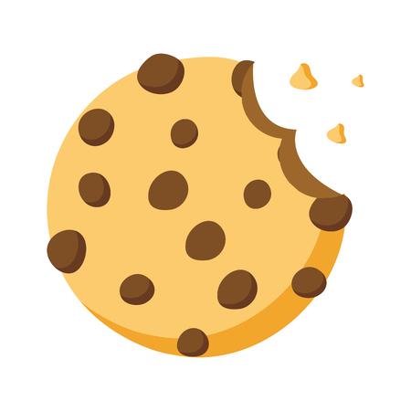 Illustration for sweet cookie dessert bite vector illustration design - Royalty Free Image