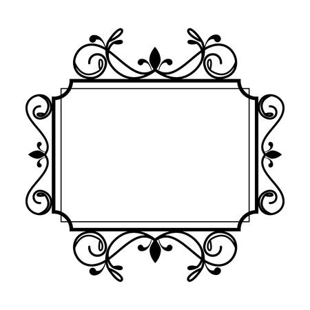 Illustration pour square label victorian style vector illustration design - image libre de droit