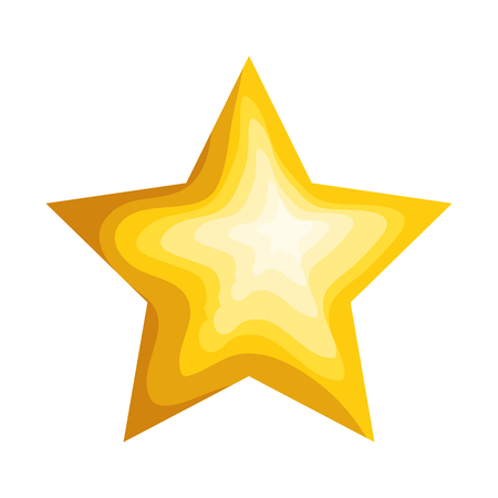 Illustration for star decorative isolated icon vector illustration design - Royalty Free Image